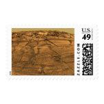 Vista del acantilado de las quemaduras en Marte Sellos