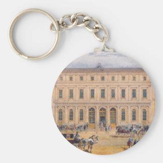 Vista del almacén grande de Passazh en 1848 Llavero Redondo Tipo Pin