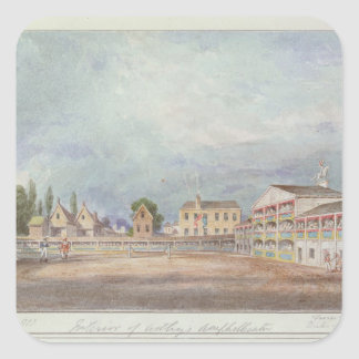 Vista del Amphitheatre de Astley, 1777 Pegatina Cuadrada
