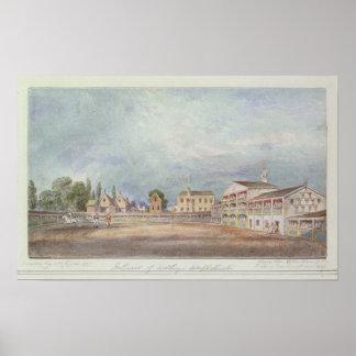 Vista del Amphitheatre de Astley, 1777 Póster