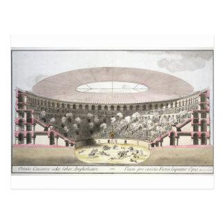 Vista del Amphitheatre de César (litho del color) Postales