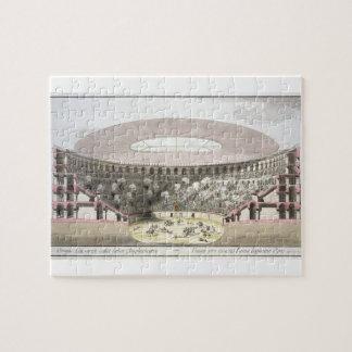 Vista del Amphitheatre de César (litho del color) Rompecabeza
