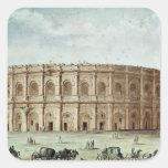 Vista del Amphitheatre romano Pegatinas Cuadradas