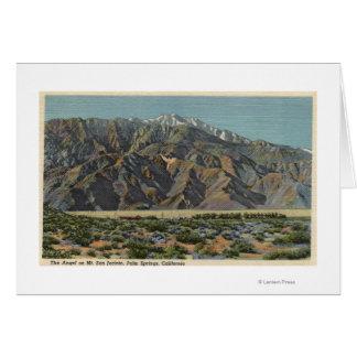 Vista del ángel en Mt. San Jacinto Tarjetas