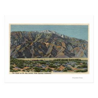 Vista del ángel en Mt. San Jacinto Tarjeta Postal