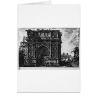 Vista del arco de Benevento en el reino… Tarjeta De Felicitación