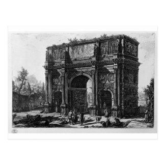 Vista del arco de Constantina de Juan Battis Tarjetas Postales