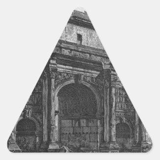 Vista del arco de Septimius Severus de Juan Pegatina Triangular