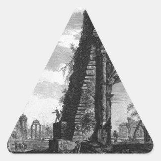 Vista del arco de Titus de Juan Battista Pegatina Triangular