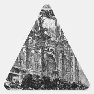 Vista del arco del ` Aosta de Augustus d Pegatina Triangular