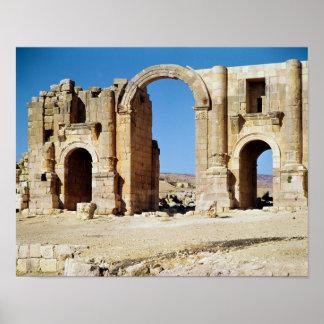 Vista del arco triunfal, ANUNCIO construido c.129 Póster