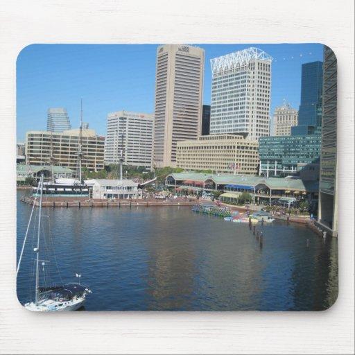 Vista del área interna en Baltimore, Md. del puert Tapete De Raton