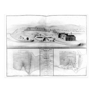 Vista del astillero en Plymouth, 1608 Postales