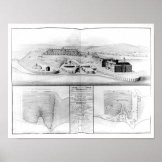 Vista del astillero en Plymouth, 1608 Póster