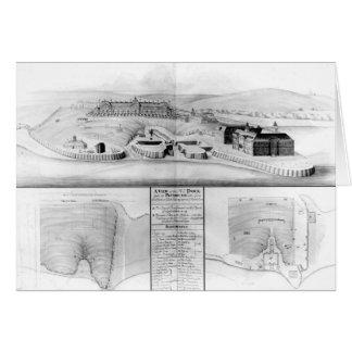 Vista del astillero en Plymouth, 1608 Tarjeta De Felicitación