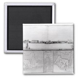 Vista del astillero en Portsmouth Imán Cuadrado