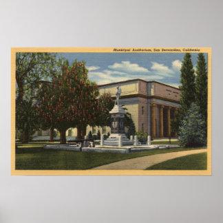 Vista del auditorio municipal póster