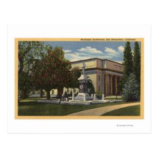 Vista del auditorio municipal postal