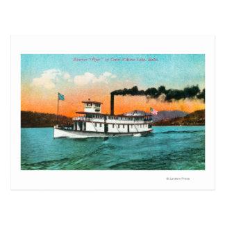 Vista del aviador del vapor en el lago postal