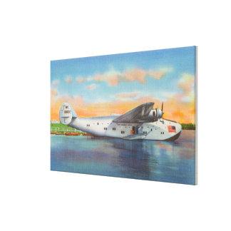 Vista del avión de las podadoras de California Impresión En Lona