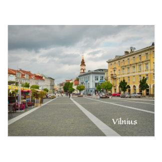 Vista del ayuntamiento, Vilna Lituania Tarjeta Postal