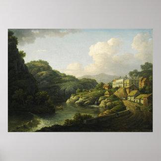 Vista del baño de Matlock de Guillermo Marlow Impresiones