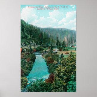 Vista del barranco del río Sacramento en el SP Poster