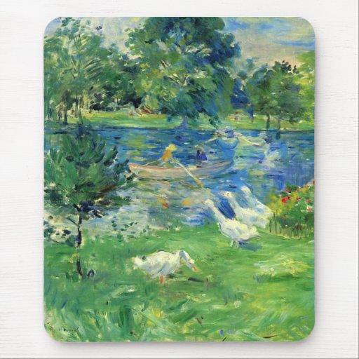 Vista del Bois de Boulogne de Berthe Morisot Alfombrilla De Ratones