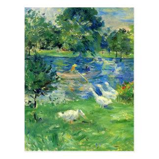 Vista del Bois de Boulogne de Berthe Morisot Postales