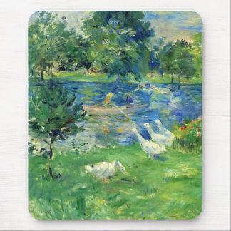 Vista del Bois de Boulogne de Berthe Morisot Tapete De Ratones