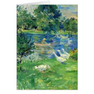 Vista del Bois de Boulogne de Berthe Morisot Felicitaciones