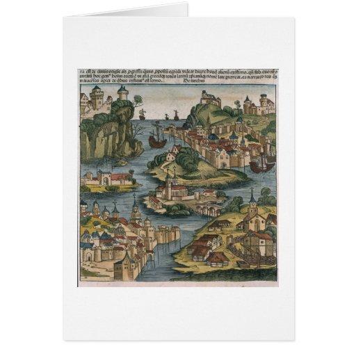 Vista del Bósforo que entra del Mar Negro, Felicitacion