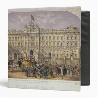 "Vista del Buckingham Palace con una muchedumbre Carpeta 1 1/2"""
