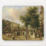 Vista del bulevar Montmartre, París, 1830 Alfombrillas De Ratón