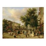 Vista del bulevar Montmartre, París, 1830 Tarjeta Postal