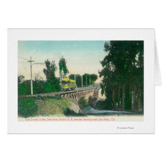 Vista del caballete en el ferrocarril interurbano tarjeta de felicitación
