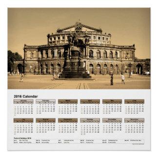 "Vista del""/calendario 2016 DINA4 de Dresden Perfect Poster"