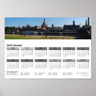 """Vista """"del""""/calendario 2016 DINA4 de la terraza de Póster"""