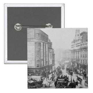 Vista del camino de la corte de Tottenham, c.1885 Pin Cuadrado