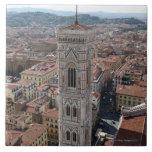 Vista del campanario de Giotto (di del campanil Azulejo Cuadrado Grande