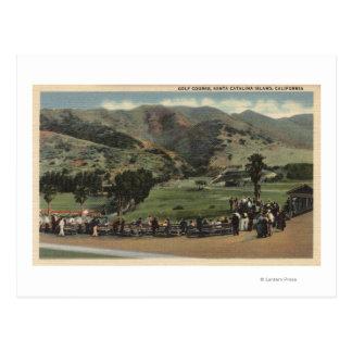 Vista del campo de golf postal