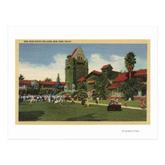 Vista del campus de la universidad de estado de tarjeta postal