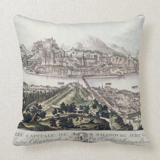 Vista del capital y de la fortaleza de Salzburg, Almohadas
