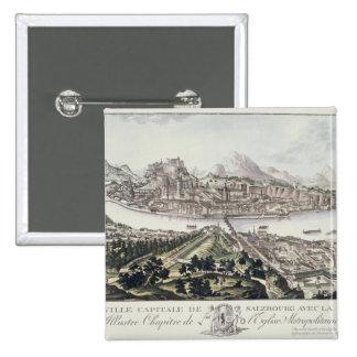 Vista del capital y de la fortaleza de Salzburg, Pins