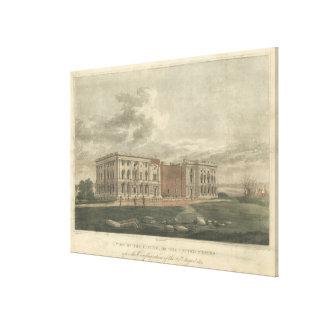 Vista del capitolio después de la conflagración impresion de lienzo