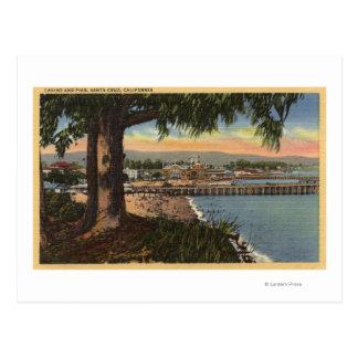 Vista del casino y del embarcadero de una distanci tarjetas postales