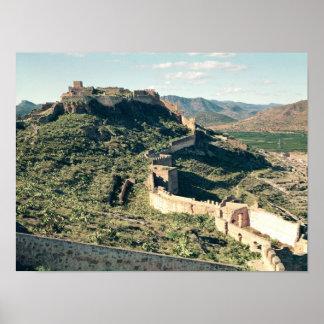 Vista del castillo, 8vo-12mo siglo impresiones