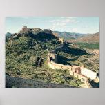 Vista del castillo, 8vo-12mo siglo póster