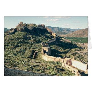 Vista del castillo, 8vo-12mo siglo tarjeta de felicitación
