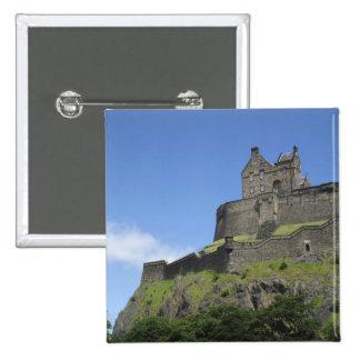 Vista del castillo de Edimburgo, Edimburgo, Escoci Pin Cuadrada 5 Cm